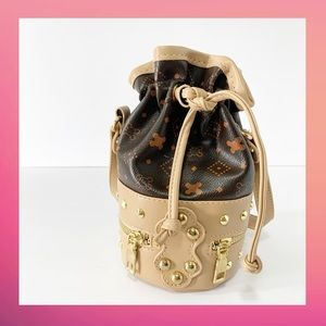 Studded Mini Bucket Handbag / Crossbody